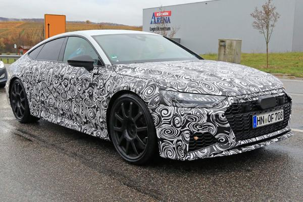 New spy shots preview the Audi RS 7, which will use plug-in hybrid tech adopted from the Porsche Panamera